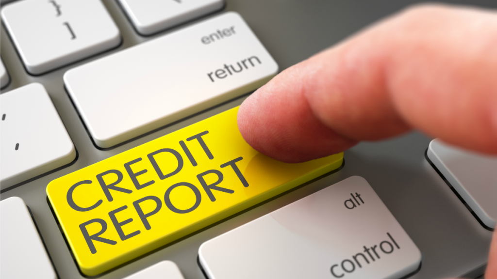 Credit Report keyboard