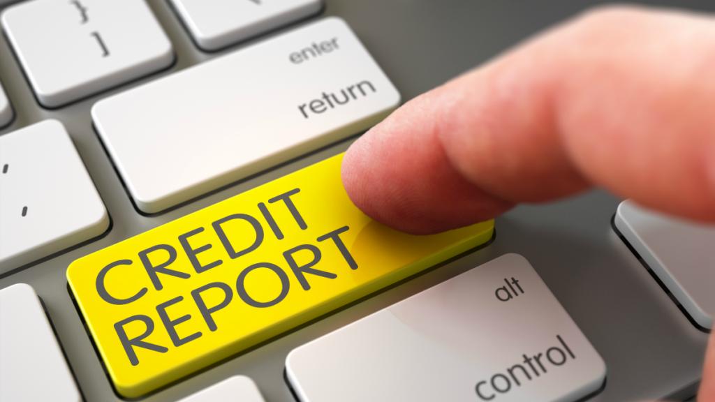 Credit Report keyboard